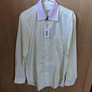 New Dolce & Gabbana Mens Button Shirt D&G